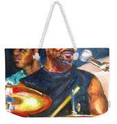 Tiger On Drums Weekender Tote Bag