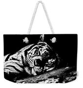 Tiger R And R Black And White Weekender Tote Bag