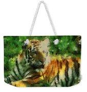 Tiger Resting Photo Art 03 Weekender Tote Bag