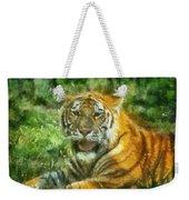 Tiger Resting Photo Art 05 Weekender Tote Bag