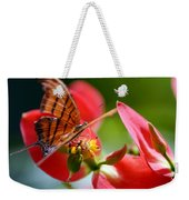 Tiger Stripped Butterfly Weekender Tote Bag