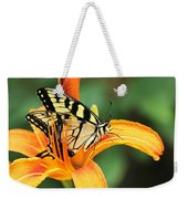 Tiger Swallowtail Butterfly On Daylily Weekender Tote Bag