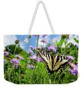 Tiger Swallowtail On Pincushion Flowers Weekender Tote Bag