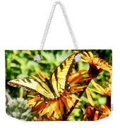 Tiger Swallowtail On Yellow Wildflower Weekender Tote Bag