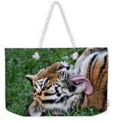 Tiger Tongue Weekender Tote Bag