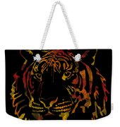Tiger Watercolor - Black Weekender Tote Bag