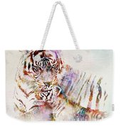 Tiger With Cub Watercolor Weekender Tote Bag