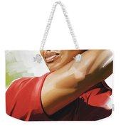 Tiger Woods Artwork Weekender Tote Bag