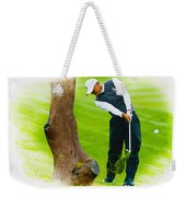 Tiger Woods Hits A Shot From The Rough Weekender Tote Bag
