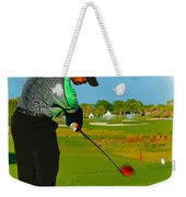 Tiger Woods  - Second Round Of The Honda Classic Weekender Tote Bag