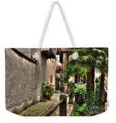 Tight Alley With Palm Trees Weekender Tote Bag