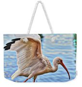 Tightrope Walking Ibis Weekender Tote Bag