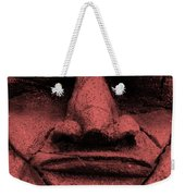 Tiki Mask Salmon Weekender Tote Bag