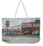 Tim Hortons By Niagara Falls Blvd Where I Have My Coffee Weekender Tote Bag
