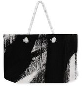 Timber- Vertical Abstract Black And White Painting Weekender Tote Bag