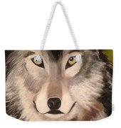 Timber Wolf In Summer Weekender Tote Bag