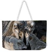 Timber Wolf Pictures 1096 Weekender Tote Bag