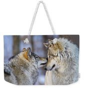 Timber Wolf Pictures 1230 Weekender Tote Bag