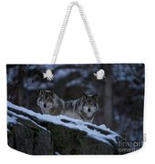Timber Wolf Pictures 1233 Weekender Tote Bag