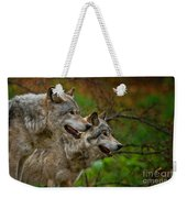 Timber Wolf Pictures 1710 Weekender Tote Bag