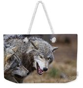 Timber Wolf Pictures 173 Weekender Tote Bag
