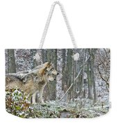 Timber Wolf Pictures 184 Weekender Tote Bag