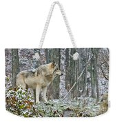 Timber Wolf Pictures 185 Weekender Tote Bag
