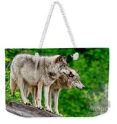 Timber Wolf Pictures 191 Weekender Tote Bag