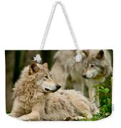 Timber Wolf Pictures 192 Weekender Tote Bag