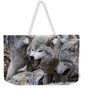 Timber Wolf Pictures 210 Weekender Tote Bag