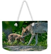 Timber Wolf Pictures 332 Weekender Tote Bag