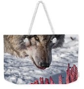 Timber Wolf Pictures 552 Weekender Tote Bag