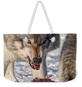 Timber Wolf Pictures 556 Weekender Tote Bag