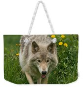Timber Wolf Pictures 59 Weekender Tote Bag