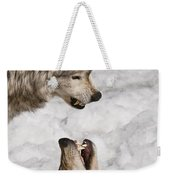 Timber Wolf Pictures 775 Weekender Tote Bag