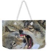 Timber Wolves Play Weekender Tote Bag
