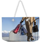 Time For Shopping Weekender Tote Bag