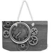 Time In Black And White Weekender Tote Bag