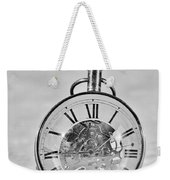 Time In The Sand In Black And White Weekender Tote Bag