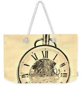 Time In The Sand In Sepia Weekender Tote Bag