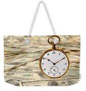 Time Is Over Money Weekender Tote Bag