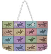 Time Lapse Motion Study Horse Color Weekender Tote Bag