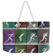 Time Lapse Motion Study Man Running Color Weekender Tote Bag