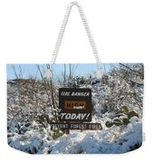 Time To Change The Sign Weekender Tote Bag