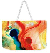 Time Will Tell - Abstract Art By Sharon Cummings Weekender Tote Bag