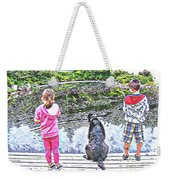 Timeless Activities - Trouting - Children - Summer Fun Weekender Tote Bag