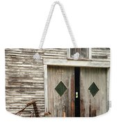 Red Tractor And Old Barn Ossipee New Hampshire Weekender Tote Bag