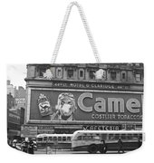 Times Square Advertising Weekender Tote Bag
