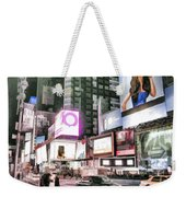 Times Square At Night Weekender Tote Bag