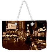 Times Square At Night - In Copper Weekender Tote Bag